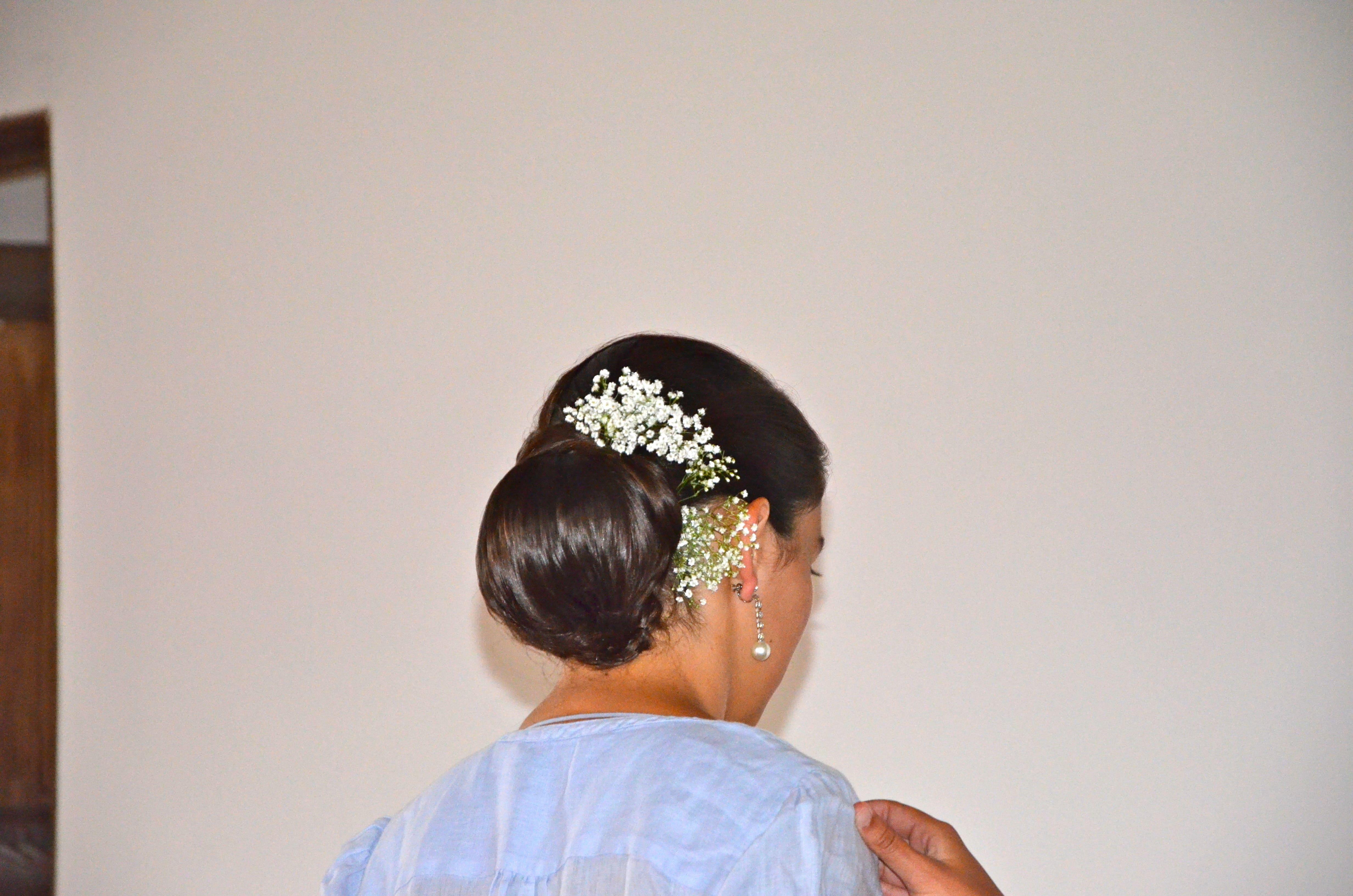 Chignon de mariée fleurs